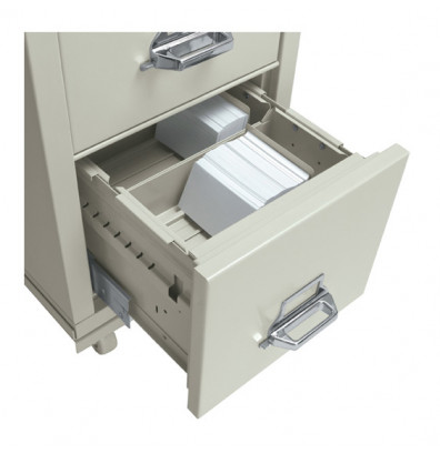 """FireKing 3"""" H x 5"""" W Card Cross Tray for 31"""" D Letter Files (Shown in Parchment)"""
