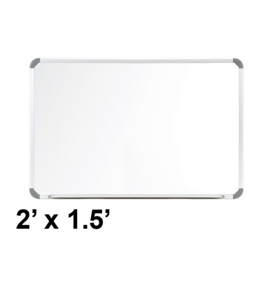 Ghent CTSM3-18-1 Cintra 2 ft. x 1.5 ft. Euro-Style Magnetic Painted Steel Whiteboard