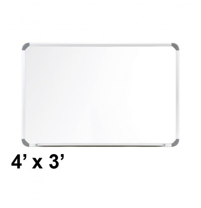 Ghent CTSM3-34-1 Cintra 4 ft. x 3 ft. Euro-Style Magnetic Painted Steel Whiteboard
