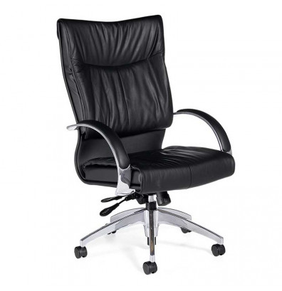 Global Softcurve 4696LM-4 High-Back Bonded Leather Office Chair