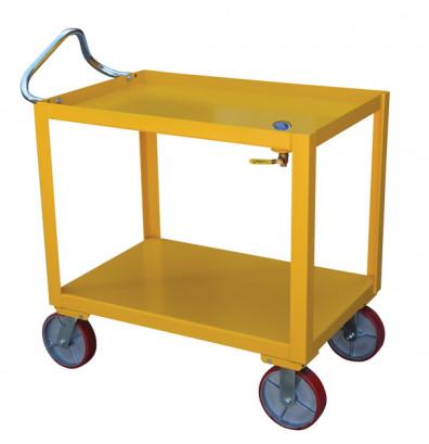 """Vestil DH-PH4-2436-D Ergo-Handle 24"""" x 36"""" Utility Cart with Drain"""