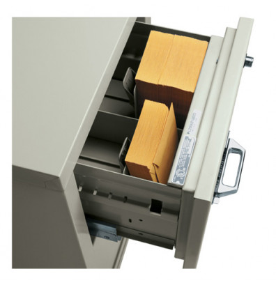"FireKing 2-Section Insert for 3 1/4"" H x 7 3/8"" W IBM Cards (Shown in Parchment)"