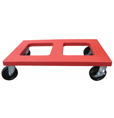 "Vestil DOL-1830-F Flush Top 1000 lb. 18"" x 30"" Polyethylene Plastic Dolly"