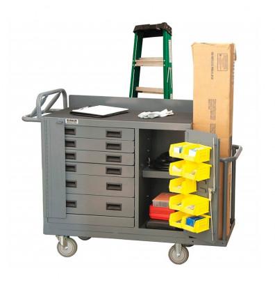 "Durham Steel 53"" x 18"" 1200 lbs Capacity Steel Mobile Workbench"