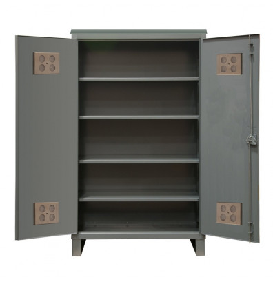 Durham Steel 4-Shelf 12 Gauge Wardrobe Cabinets for Outdoor Us