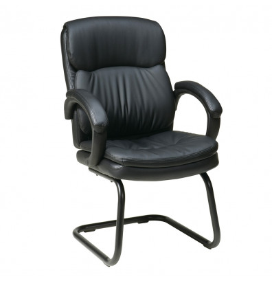 Office Star Work Smart Eco-Leather Mid-Back Guest Chair