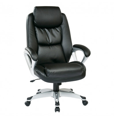 Office Star Coil Spring Eco-Leather High-Back Executive Office Chair (Model ECH89186-EC3)