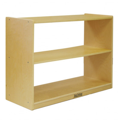 ECR4Kids Birch 2-Shelf Classroom Storage Cabinet without Back
