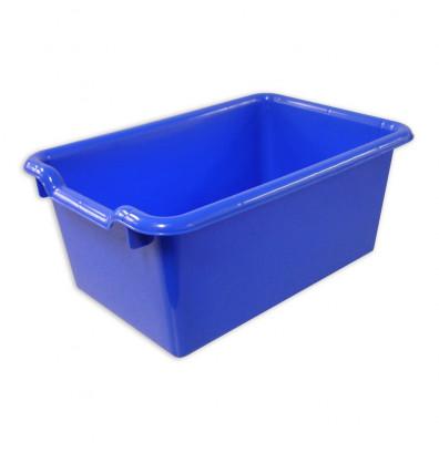 ECR4Kids Scoop Front Plastic Storage Bins, 10 Pack (Shown in Blue)