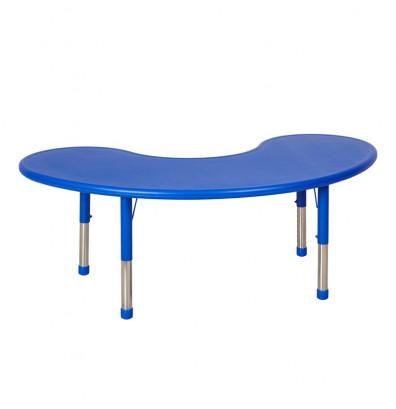"ECR4Kids 65"" Kidney Resin Adjustable Activity Table (Shown in Blue)"