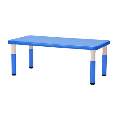 """ECR4Kids 48"""" x 24"""" Resin Adjustable Activity Table (Shown in Blue)"""