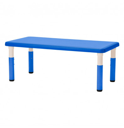 """ECR4Kids 48"""" W x 24"""" D Resin Height Adjustable Classroom Activity Table (Shown in Blue)"""