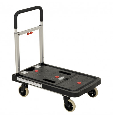"Vestil FF-FPT-1627 Personal Folding 300 lb. 16"" x 26"" Plastic Platform Cart"