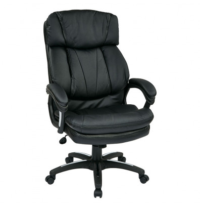Office Star Faux Leather High-Back Executive Office Chair