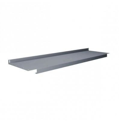 """Tennsco Lower 14"""" D Shelves for Workbenches - Shown in Medium Grey"""