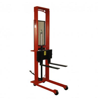 "Wesco SFL-56-25 Standard 56"" Lift 1000 lb Load Manual Hydraulic Fork Stacker"