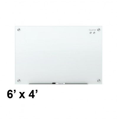 Quartet G7248W Infinity 6 ft. x 4 ft. White Magnetic Glass Whiteboard