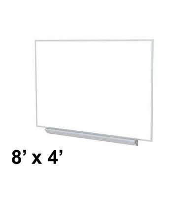 Ghent A2M48 Aluminum Frame 8 ft. x 4 ft. Porcelain Magnetic with Box Tray