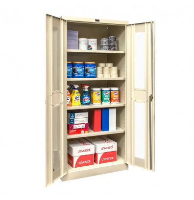 "Hallowell 800 Series 78"" H Safety-View Storage Cabinets (Shown in Tan)"