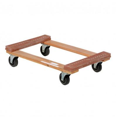 """Vestil HDOR-1830-12 Hardwood 1200 lb. 18"""" x 30"""" Rubber End Dolly"""