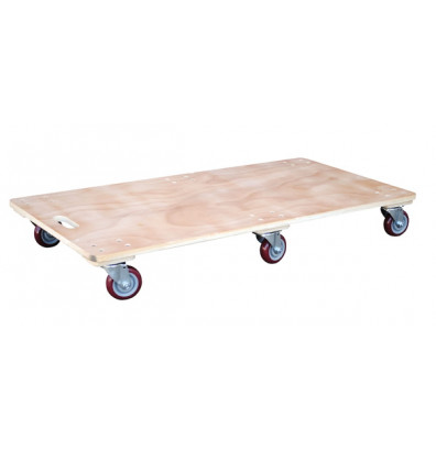 "Vestil HDOS-2448-6SW Hardwood 1200 lb. 24"" x 48"" Solid Deck Dolly"