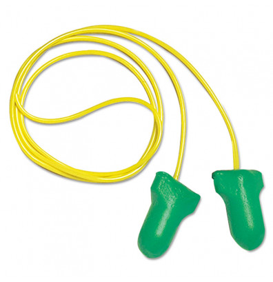 Howard Leight by Honeywell LPF-1 D Max Lite Single-Use Earplugs, Cordless, 30NRR, Green, 500/Pairs
