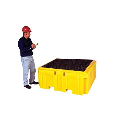 Vestil 360-Gallon Capacity Intermediate Bulk Crate Spill Containment Pallet