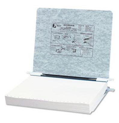 "Acco 11"" x 8-1/2"" Unburst Sheet Pressboard Hanging Data Binder, Light Gray"