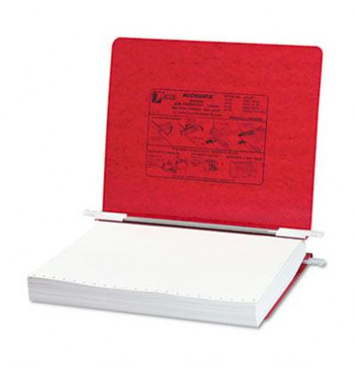 "Acco 11"" x 8-1/2"" Unburst Sheet Pressboard Hanging Data Binder, Executive Red"