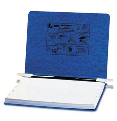 """Acco 12"""" x 8-1/2"""" Unburst Sheet Pressboard Hanging Data Binder, Dark Blue"""