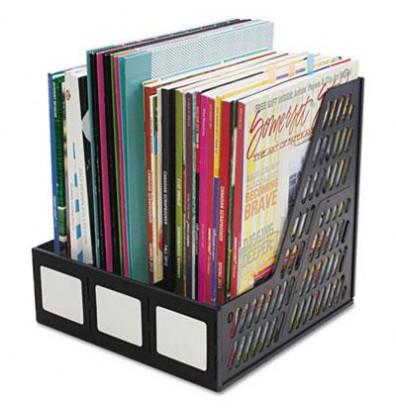 Advantus 3-Section Literature File, Black