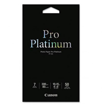 "Canon Pro Platinum 4"" X 6"", 80lb, 50-Sheets, High-Gloss Photo Paper"
