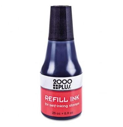 2000 Plus Self-Inking Refill Ink, .9 oz Bottle, Black
