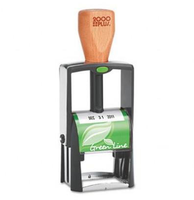 "2000 Plus Green Line Self-Inking Heavy Duty Stamp, Black Ink, 1-1/4"" x 5/8"""