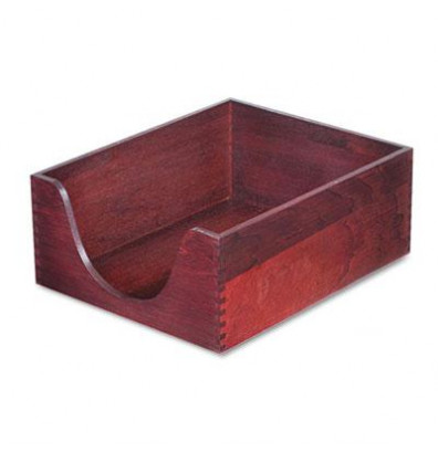 """Carver 5"""" H Hardwood Stackable Letter Tray, Mahogany"""