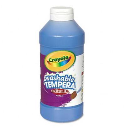 Crayola Artista II 16 oz Washable Tempera Paint, Blue