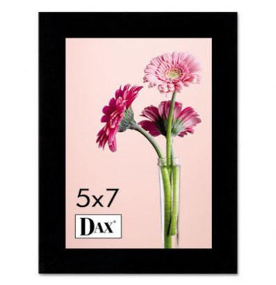 """DAX Solid Wood Picture Frame, 5"""" W x 7"""" H, Black"""