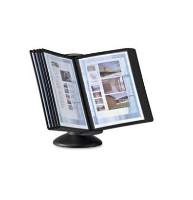 Durable Sherpa 10 Panel Motion Desk System Black Borders