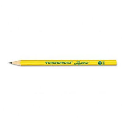 Dixon Ticonderoga Laddie #2 Yellow Woodcase Pencils, 12-Pack
