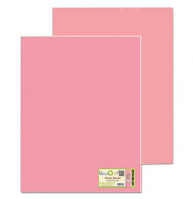 """Geographics Eco Brites 20"""" x 30"""" 5-Pack Fluorescent Pink/Pink Too Cool Foam Board"""