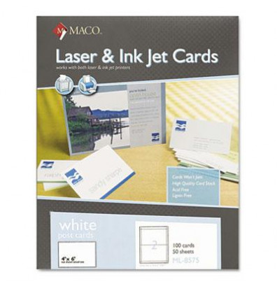Maco 4 x 6 100 cards unruled index card stock for Maco laser and inkjet labels template