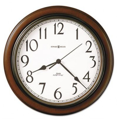 "Howard Miller 15.3"" Talon Wall Clock, Cherry"