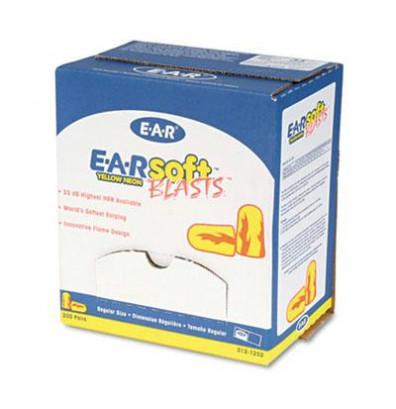 3M EARsoft Blasts Uncorded Foam Earplugs, Neon Yellow, 200 Pairs