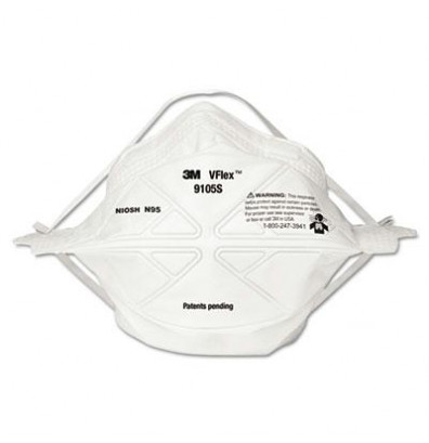 3M VFlex N95 Particulate Respirator, Small, 50/Box