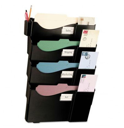 Officemate 4-Pocket Letter & Legal Wall File