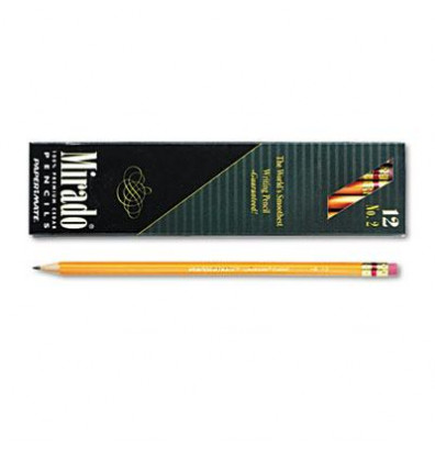 Paper Mate Mirado #2 Yellow Woodcase Pencils, 12-Pack