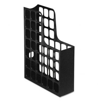 "Pendaflex 3"" DecoFile Plastic Magazine File, Black"