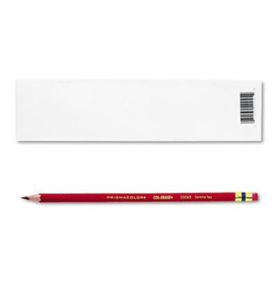 Prismacolor Col-Erase 0.7 mm Carmine Red Woodcase Pencils, 12-Pack