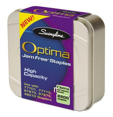 "Swingline 70-Sheet Capacity Staples, 3/8"" Leg, 2500/Box"