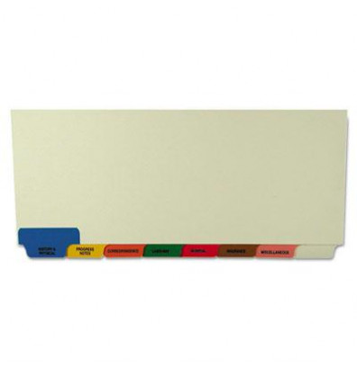 "Tabbies 8-1/2"" x 11-3/8"" 8-Tab Medical Chart Index Divider Set, Manila, 40 Sets/Box"